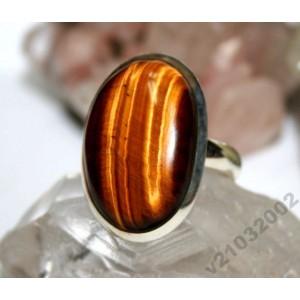 ТИГРОВЫЙ ГЛАЗ серебро. Крупное кольцо безразмерное