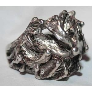 АРТ кольцо экзотического дизайна стиля *Гауди*, серебро