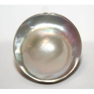 Природный морской ЖЕМЧУГ Mabe, 24 мм! серебро кольцо