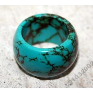 Натуральный природный ТУРКВЕНИТ (заменитель бирюзы) кольцо, гоголит