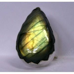 78ct Лабрадор / лабрадорит серебро Кольцо
