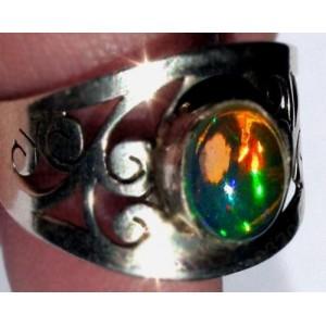 13,1 ct Эфиопский многоцветный ОПАЛ серебро, кольцо
