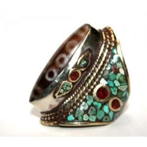 Старинный обрядовый перстень ДЗИ - Редкость! Тибет
