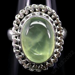 Нежный натуральный ПРЕНИТ в серебре 925, кольцо размер18