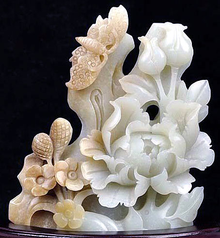 Белый нефрит резтба по камню