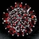 Кольцо - мозамбийский ГРАНАТ природный, золото, серебро