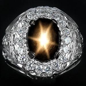 САПФИР - ПАДПАРАДЖА природный в серебре с золотом