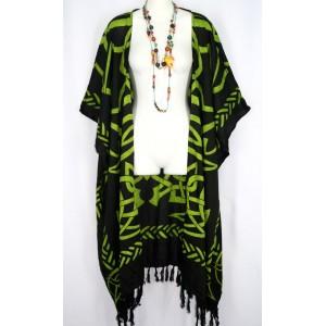 Накидка ДЛИННАЯ, кельтский рисунок, 2X-5X платье туника 100% Rayon Индонезия