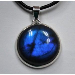 Магия в камне! ЛАБРАДОР / лабрадорит - Черный ЛУННЫЙ КАМЕНЬ с эффектом следящего глаза в серебре . Подвеска