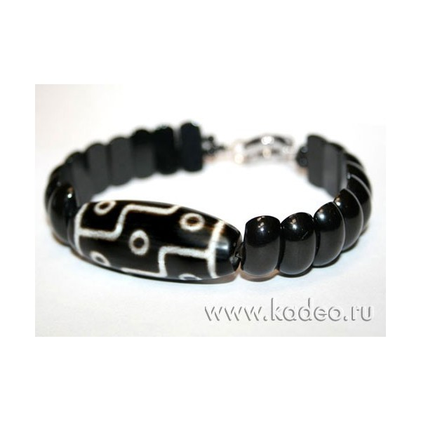 Черный турмалин шерл браслет