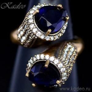 Османское ANTIQUE кольцо с ПУРПУРНЫМИ АМЕТИСТАМИ в серебре
