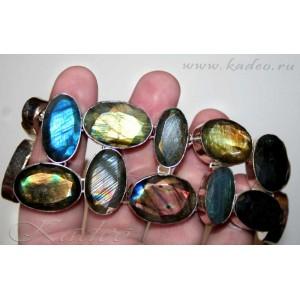 БРАСЛЕТ: магический камень - ЛАБРАДОР, лабрадорит, серебро