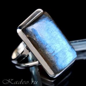 Кольцо с ЛАБРАДОРОМ / лабрадоритом в серебре