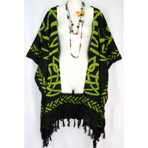 Накидка летняя, кельтский орнамент, 2X-6X , натуральный шелк, 100% Rayon Индонезия
