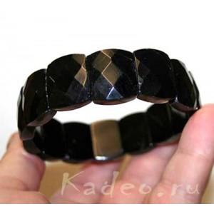 Редкость! КРУПНЫЙ! 365ct Черный ТУРМАЛИН - ШЕРЛ браслет: исправляет АУРУ, разрушает темные энергии. Амулет ведьм