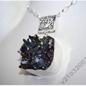 Природные КРИСТАЛЛЫ - ДРУЗА кварца серебро. Шикарно!