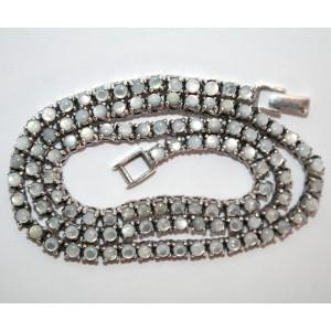 Колье, ожерелье, цепочка для подвесок : природный ПЕРЛАМУТР, белое золото, стерлинговое серебро