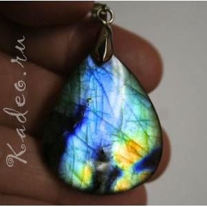 Кулон из натурального ЛАБРАДОРА / лабрадорит, разновидность - Спектролит. Камень гиперборейский мистический, подвеска
