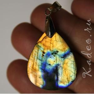 Кулон из натурального ЛАБРАДОРА / лабрадорит, разновидность - Спектролит - камень мистик, подвеска