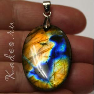 Кулон из природного Черного ЛУННОГО КАМНЯ - ЛАБРАДОРА / лабрадорит, разновидность - Спектролит - камень мистик, подвеска унисекс