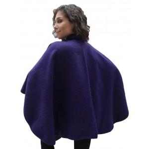 100% Лама АЛЬПАКА - ПОНЧО АвтоЛеди накидка кофта свингер из Перу. цвет - индиго, фиолетовый