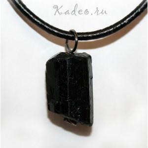пиродный Черный ТУРМАЛИН - ШЕРЛ исправляет АУРУ, амулет ведьм. Подвеска, кулон