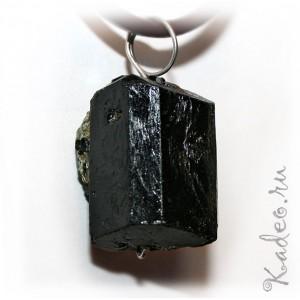 натуральный Черный ТУРМАЛИН - ШЕРЛ исправляет АУРУ, амулет ведьм. Подвеска, кулон