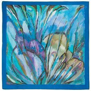 Павловопосадский  платок БОЛЕРО натуральный ШЕЛК, авторская работа художника