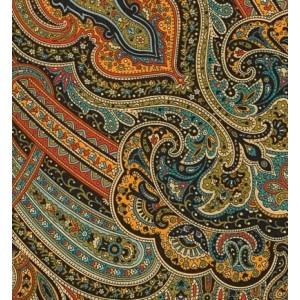 Шаль «Таинственный вечер» -18, Павловопосадская  авторская работа художника, из облегченной уплотненной шерстяной ткани