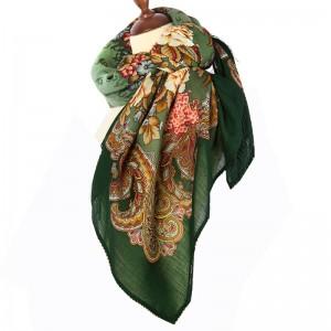Русский стиль, Павловопосадская мануфактура, платок шерстяной «Бал-маскарад», колорит 9