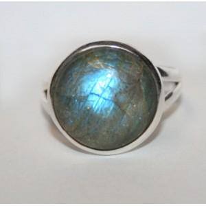Кольцо с ЛАБРАДОРОМ лабрадоритом в серебре