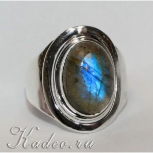 ЛАБРАДОР лабрадорит Тёмный Лунный камень. Кольцо, серебро