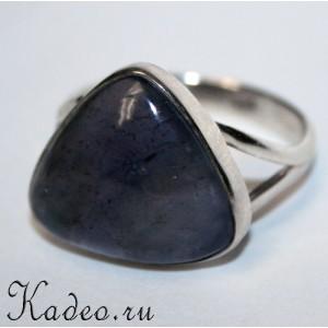 Кольцо ОБЕРЕГ с ЛАБРАДОРОМ лабрадоритом Тёмным Лунником, размер 22
