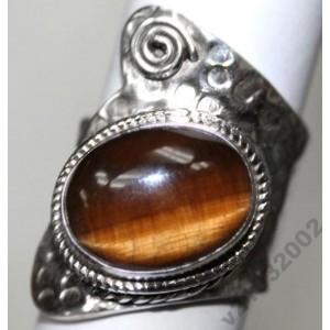 ТИГРОВЫЙ ГЛАЗ, Кольцо из серебра 925, любой размер, Оригинал!