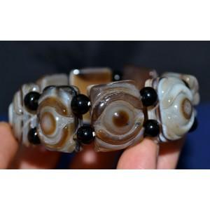 Браслет из АГАТА с вставками Всевидящее око, разрушает темные энергии. Амулет