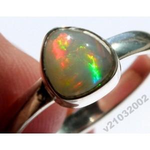2ct Мексиканский многоцветный ОПАЛ кольцо 18,5-19