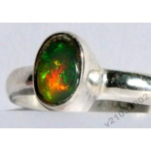 1,2 ct Мексиканский многоцветный ОПАЛ кольцо р.18